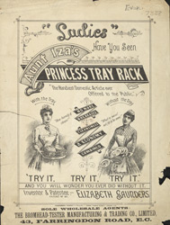Advert For Aunt Iza's Princess Tray Rack